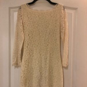 DVF white lace dress